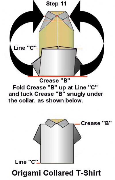 Make An Origami T Shirt With A Collar Folding Paper Art